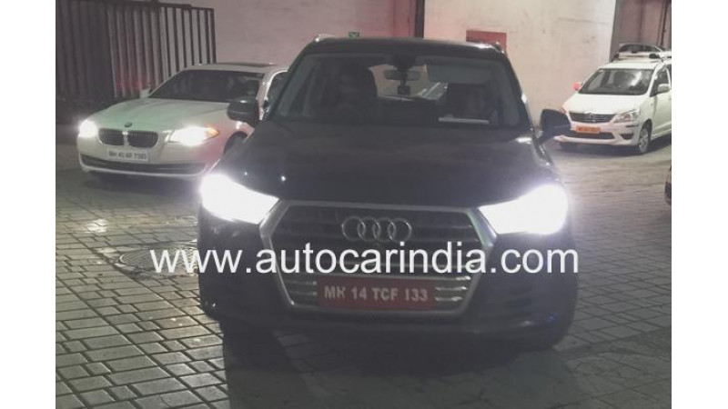 Audi SQ7 spotted on Indian roads