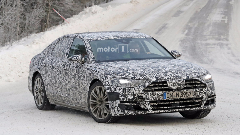 New Audi A8 spied again