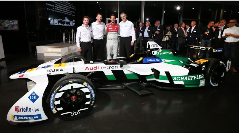 Audi Formula E race car showcased