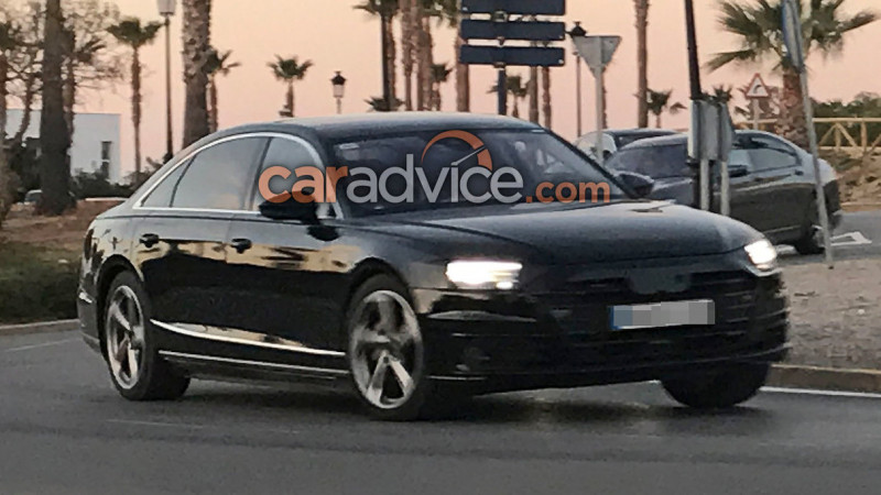 Upcoming Audi A8 spotted with minimal camouflage