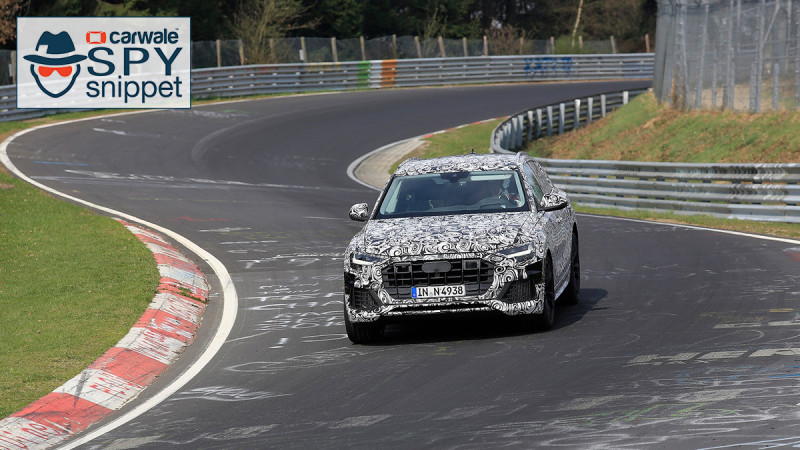 Audi's new Q8 coupe-SUV spied on the Nurburgring