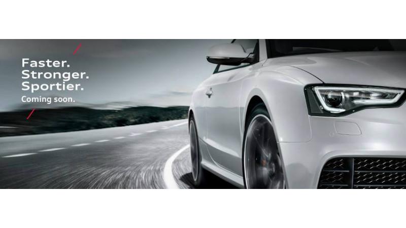 2013 Audi RS5 sports sedan teased on Facebook