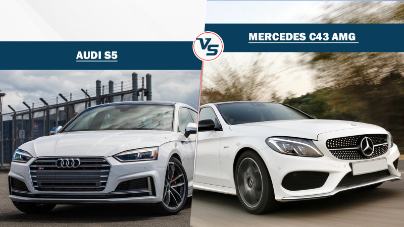 Audi S5 and Mercedes C43 AMG specification comparison