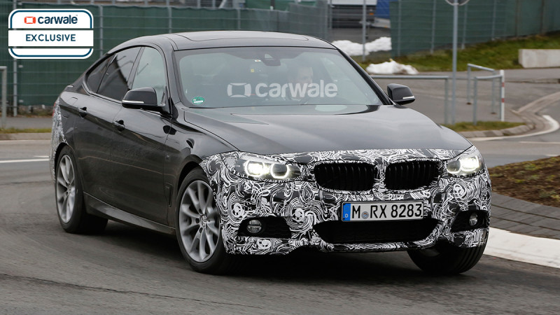 BMW 3 Series GT facelift spotted testing at the Nurburgring
