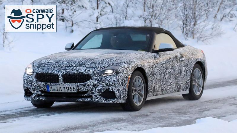 BMW Z4 spotted testing new Z4 in snow