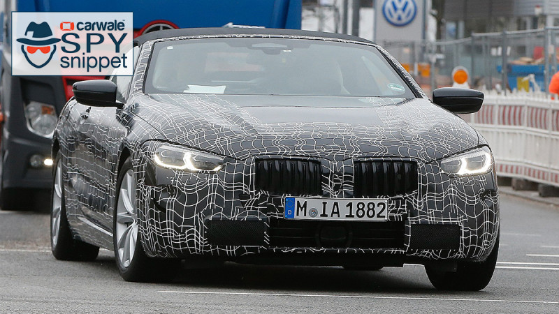 BMW spotted testing the 8 Series Cabriolet once again