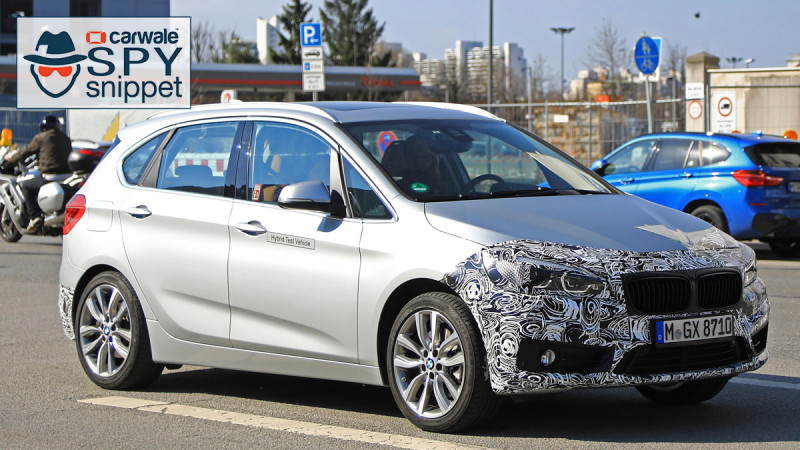 Facelifted BMW 2-Series Active Tourer spied