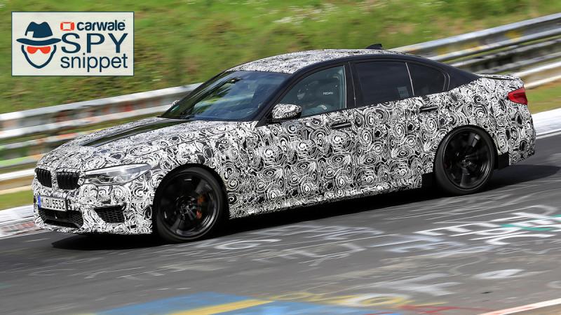New generation BMW M5 spied testing