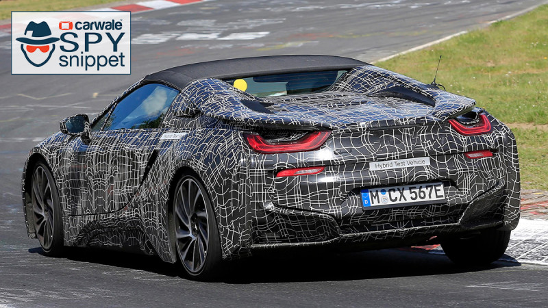 BMW i8 Spyder spotted testing at the    Ring