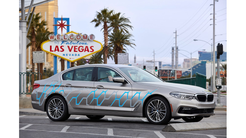 BMW reveals i Inside Future Sculpture and self-driving 5 Series showcased at CES