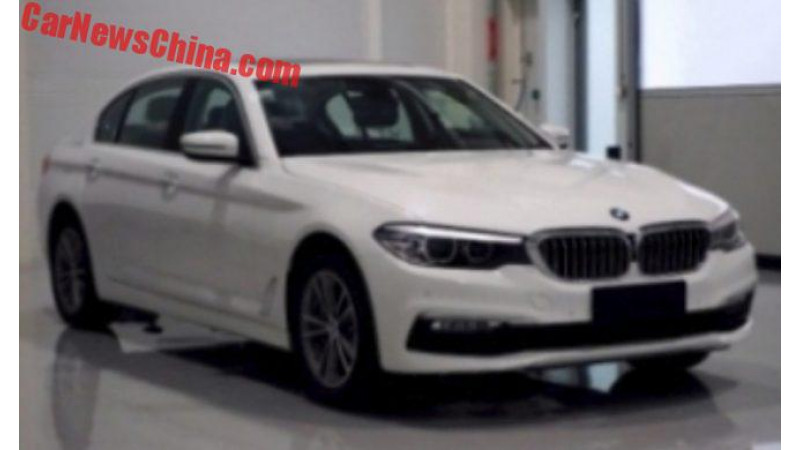 Long wheelbase BMW 5 Series spotted in China