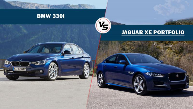 BMW 330i vs Jaguar XE Portfolio Spec Comparison