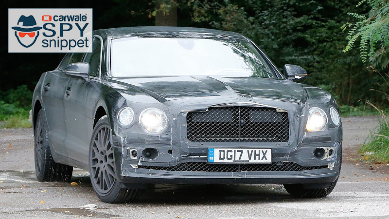 Bentley spotted testing the new-gen Flying Spur