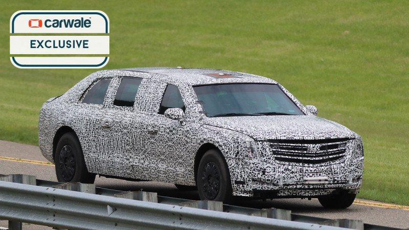 New Cadillac Beast spotted testing ahead of presidential debut