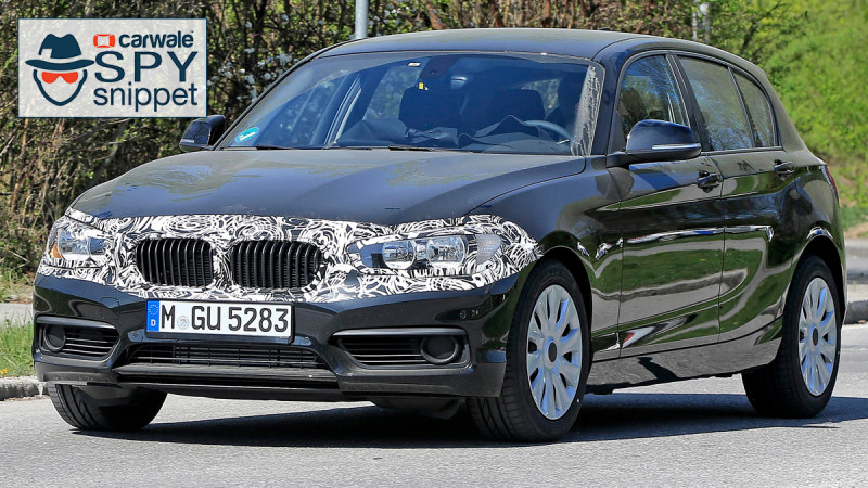 Updated BMW 1-Series spied