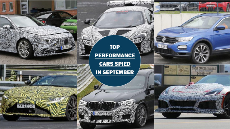 Top six performance cars spotted testing in September
