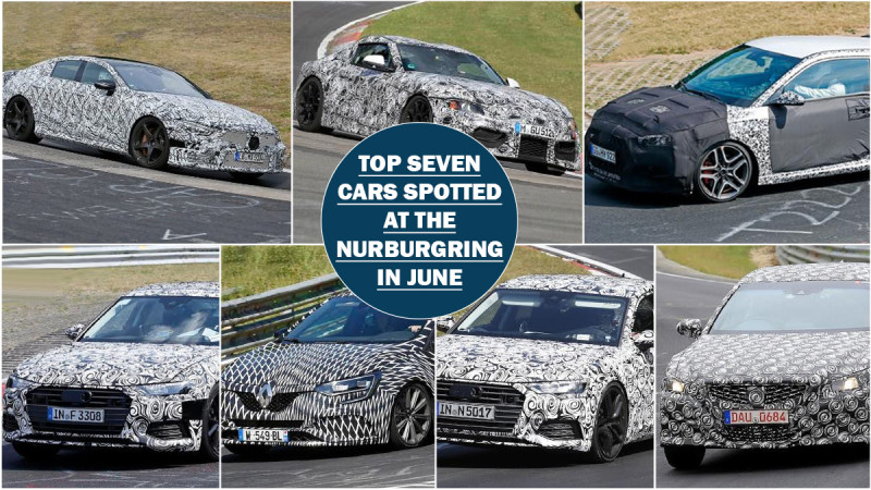 Seven vehicles spotted testing at the Nurburgring in June