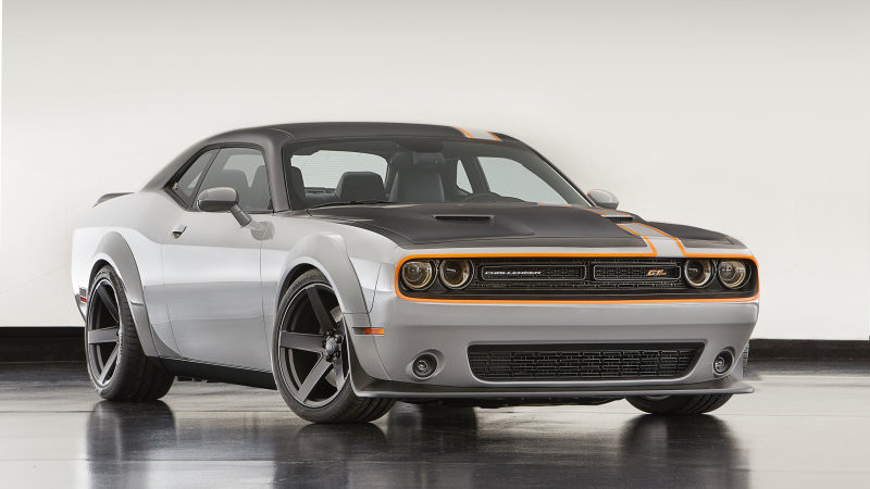 All-wheel drive Dodge Challenger in the making