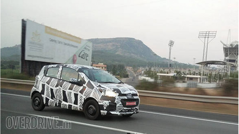 Updated Chevrolet Beat test vehicle snapped