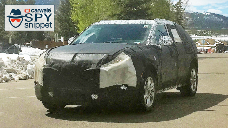 Chevrolet is out testing a mysterious CUV