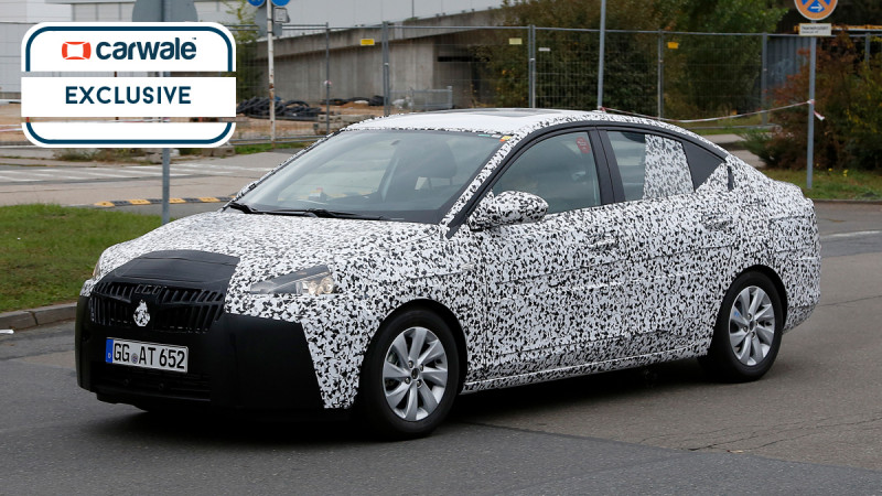 Camouflaged 2018 Chevrolet Sail sedan snapped