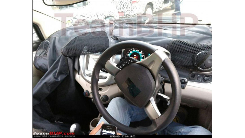 Chevrolet Beat facelift interior spied in new images