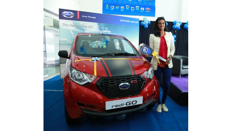 Datsun redi-GO Sport honoured to medalist P.V. Sindhu
