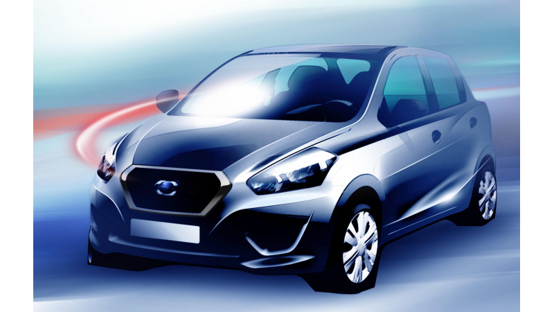 Datsun offers a glimpse of its first model, Indian showcase on July 15