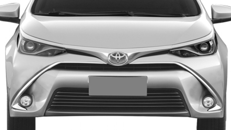 Facelifted Toyota Corolla patent images leaked