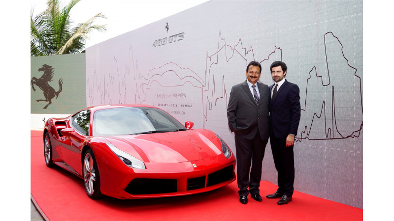 Ferrari 488 GTB unveils in Mumbai