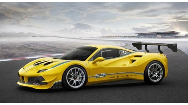 Ferrari reveals 2017 turbocharged 488 Challenge car