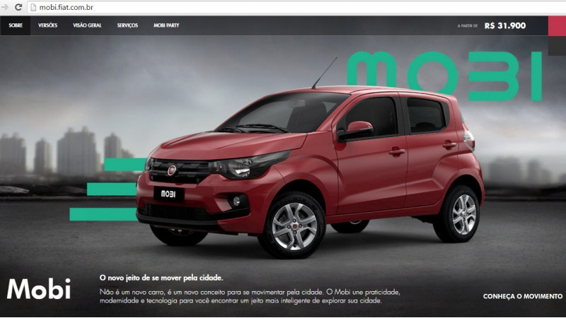 Fiat launches Mobi in Brazil at Rs 6.08 lakh