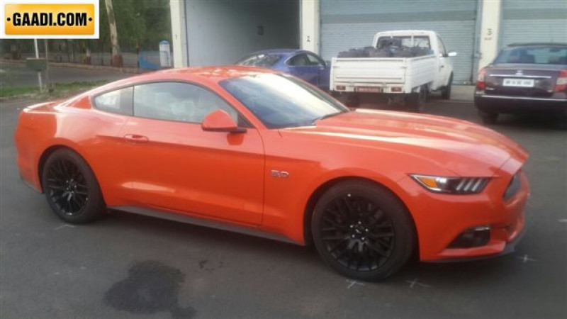 Ford Mustang Gt Spotted Undergoing Test At Automotive Research Association Of India Arai