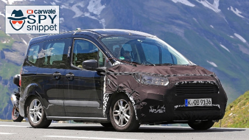 Ford Tourneo Courier facelift spied on test
