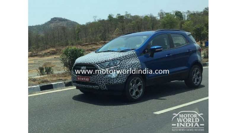 2018 India spec Ford EcoSport spotted testing