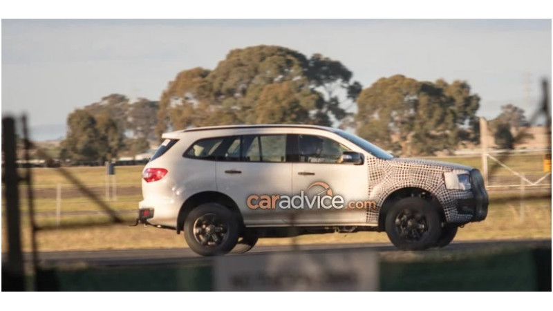 2018 Ford Endeavour Facelift Spotted Testing Cartrade