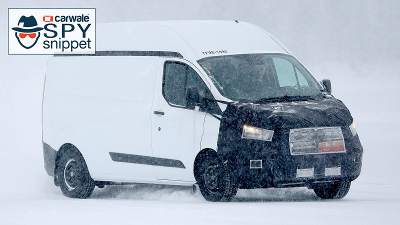 2018 Ford Transit spotted testing