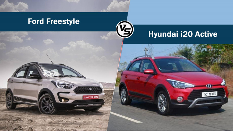 Ford Freestyle Vs Hyundai i20 Active - Specs compared