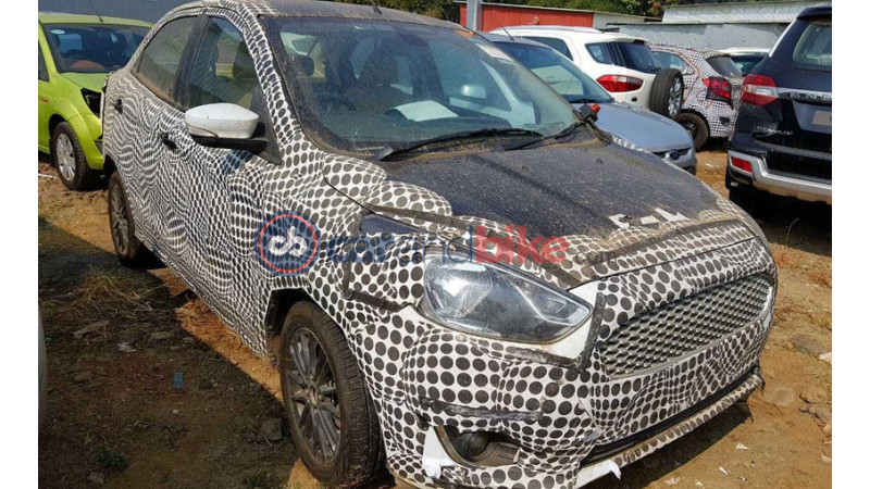 Ford Figo facelift test mule images surface