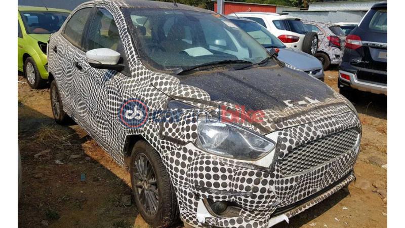 Ford Figo facelift test mule images surface