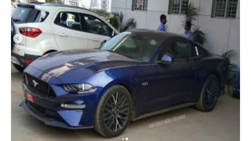 Ford Mustang facelift spotted on Indian soil once again