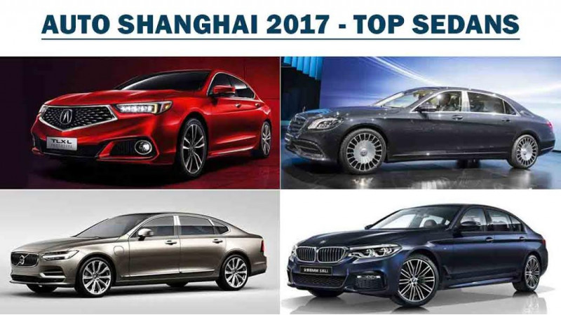 Top sedans that stole limelight at the Auto Shanghai 2017