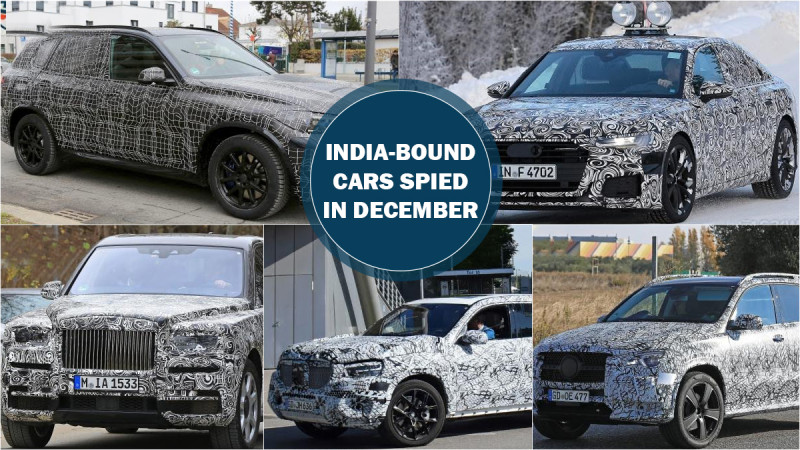 India-bound test mules spotted in December 2017