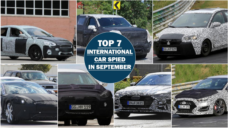 Seven international bound cars spied in September