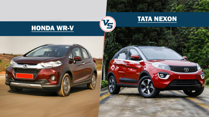 Tata Nexon Vs Honda WR-V - Spec comparison