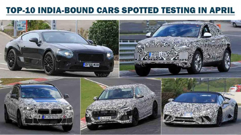 India-bound cars spotted testing in April