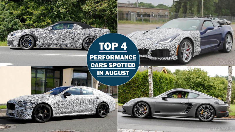 Top four performance cars spied in August