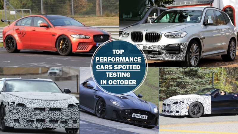 Six performance cars spotted testing in October