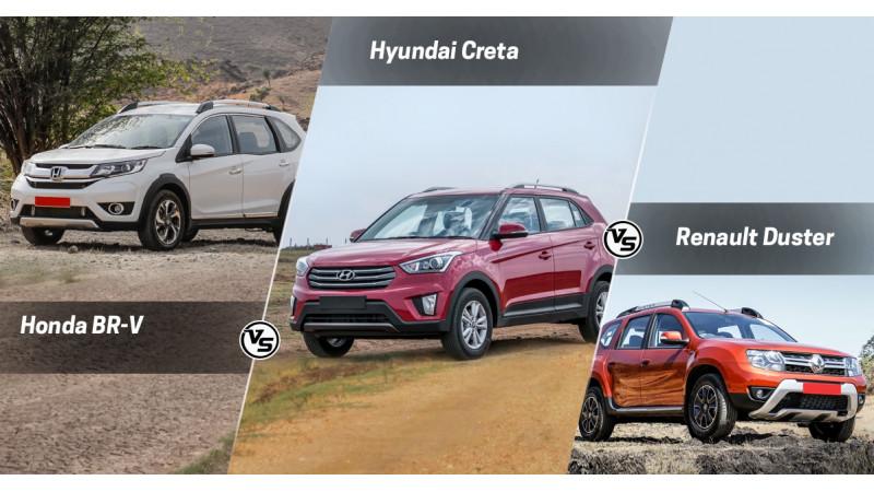 Honda BR-V vs Hyundai Creta vs Renault Duster: Specs Comparison