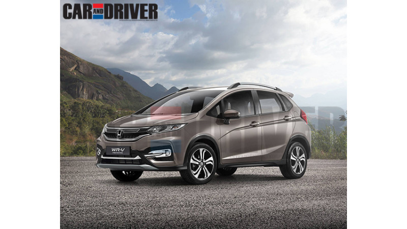 India bound Honda WR-V crossover rendered
